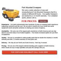 Quality Fork Mounted Sweeper for sale