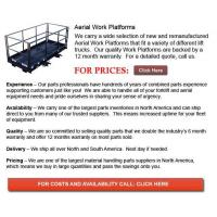 Quality Aerial Work Platforms for sale