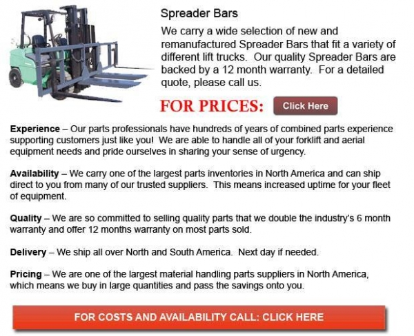 Buy Forklift Spreader Bar at wholesale prices