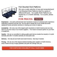 Quality Fork Mounted Work Platforms for sale