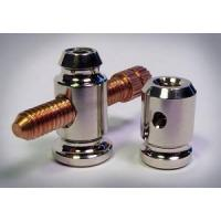 Quality Binding Post Set - Vintage Style - with contact screw NICKEL PLATED for sale