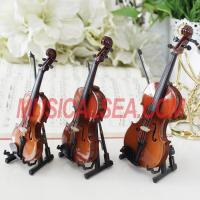 Quality Miniature violin / Cello toy for christmas ornament craft Musical Instrument for sale