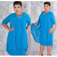 Buy cheap YY-PL0906 new dress pure color round collar dress plus size from wholesalers