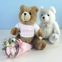 Quality Personalized Baby Gifts Bear Bouquet Personalized Baby Gift-Girl for sale