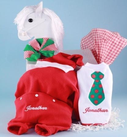 Buy Personalized Baby Gifts Christmas Outfit, Santa Hat, & Bib Personalized Baby Gift-boy at wholesale prices