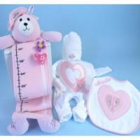 Quality Personalized Baby Gifts Hearts & Flowers Personalized Baby Girl Gift Set for sale