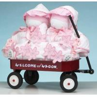 Quality Personalized Baby Gifts Girls Deluxe Welcome Wagon Personalized Gift For Twins for sale