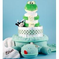 Quality Personalized Baby Gifts Friendly Frog Personalized Diaper Cake for sale