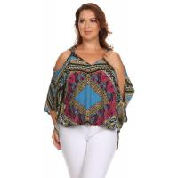 Buy cheap Katya Cut-Out Top - TEAL GOLD from wholesalers