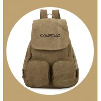 Quality Popular Waxed Canvas Backpack for Girls, Fashionable Casual Gear Backpack Factory Price for sale