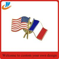 Quality BS002 soft enamel flag lapel pin for sale