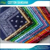 China Hot sale Unisex Fashion 100% 21'' x 21'' or as your requested Cotton Paisley Bandana on sale