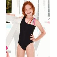 Buy cheap Little Pexoto Olivia Black w/Colorful Trim 1pc Girls Swimsuit from wholesalers