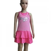 Buy cheap Girl Sequins Striped Fushia Tank Dress from wholesalers