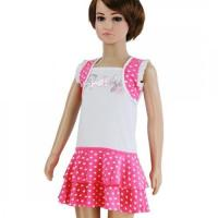 Buy cheap Party Girls Sequins Dotted White Fushia Dress from wholesalers