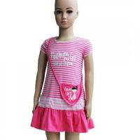 Buy cheap Summer Cotton Striped Ruffle Girls Dresses With Sequin Decoration from wholesalers