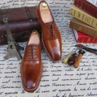 China SKP04-Genuine Leather Luxury Wedding Shoe for Man Brown Color on sale