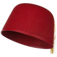 """Jacobson Hat Company Men's Adult Red Fez with Gold Tassel (5 """" Tall)-Men"""