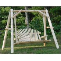 White Cedar Unstained Love Seat Swing w/ Stand