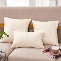 Hotel Bed Linen Chenille cushion with solid color
