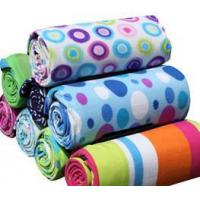 Quality fleece picnic blankets with PEVA back for sale
