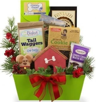 Buy Christmas Goodies for Dog and Owner Gift Basket at wholesale prices