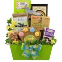 Quality Goodies for Dog and Owner Gift Basket for sale
