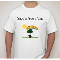 Buy cheap Earth Day T-Shirt Save a Tree a Day by Giana Designs from wholesalers