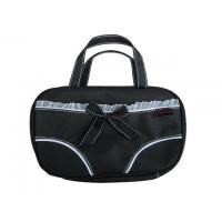 Quality PP0111 Waterproof nylon underwear bag for travelling in black with handle mesh pocket inside for sale