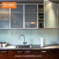 Quality Frosted Glass Inserts Doors Front for Kitchen Cabinets for sale