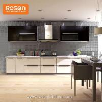 Quality Prefinished Hanging Upper Kitchen with Glass Front Cabinet Doors for sale