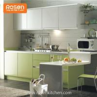 Quality Small Kitchen Design Painting Melamine Thermofoil Finished Plywood Kitchen Cabinets for sale