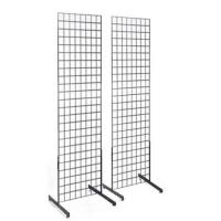 China Metal wire grid display rack with adjustable feet for height, Easy to Assemble on sale
