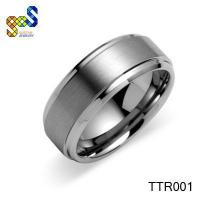Quality Black titanium wedding ring unique designs jewelry for sale