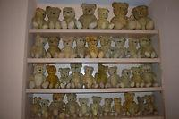China Lot Of 40 Old Vtg Antique Teddy Bear Toy Straw Jointed Stuffed Mohair European on sale