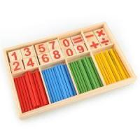 Best 52 Counting Stick Wooden Mathematics Material Educational Toy for Kid Child wholesale