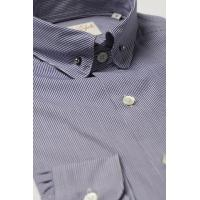 Quality Pin Collar Shirt Navy Check for sale