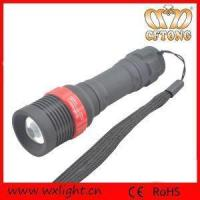China Rubber Painted Zoomable Brightness LED Torch Lamp on sale