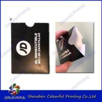 China Customized full color paper card holder with different size on sale