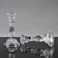 China Machine Made High Quality Tall Glass Pillar Candle Holders Pedestal on sale
