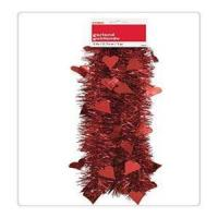 China Red Glitter Heart Shaped Tinsel Garland Decorations Party Valentine's Wall Hanging Home Accent on sale