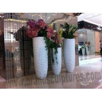 China Large Art Fiberglass Vases Sculptures as Home Ornament on sale