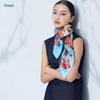 China 120x120 square custom printing chinese silk scarf on sale