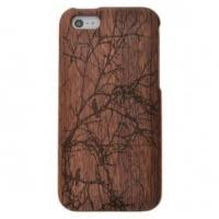 China Tree Bird Genuine Black Walnut Wood Wooden Hard Case Cover For iPhone 5 5S SE on sale