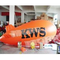 China Inflatable Advertising Blimps Orange Color/Inflatable Air Zepplin for Marketing Use on sale
