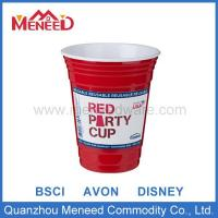 China Melamine Cup&Mug Red two tone color plastic cup with logo on sale