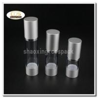 Quality 50pcs/lot ZA22 15ml 30ml 50ml aluminium clear airless pump bottles wholesale for sale