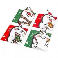 China Lovely Folding Handmade Paper Greeting Card on sale
