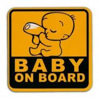 China KUMEED Safety Sign Baby in Car Cute Car Decal Car Sticker on sale
