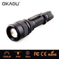 China High Power 1200 Lumen Rechargeable LED Flashlight on sale
